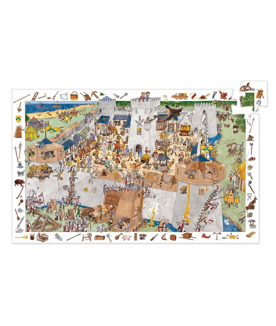 Djeco Djeco Observatiepuzzel - Het Kasteel 100pcs 5y+