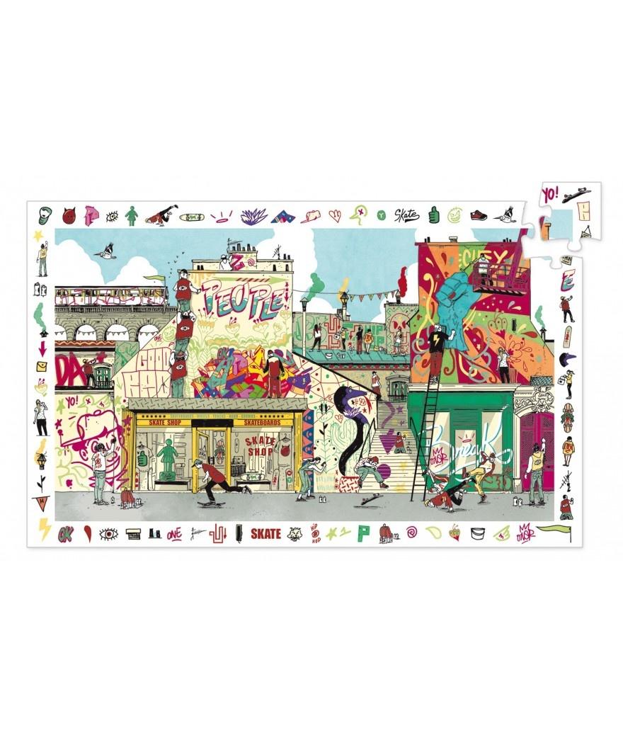 Djeco Djeco Observatiepuzzel - Street art 200pcs 6y+
