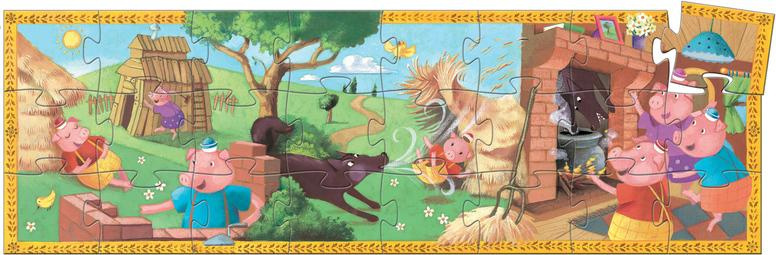 Djeco Djeco Puzzel - De drie biggetjes 24pcs 3y+