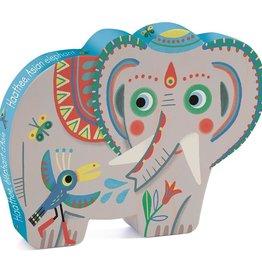 Djeco Djeco Puzzel - Haathee, Aziatische olifant 24pcs 3y+