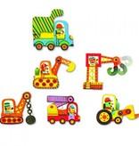 Djeco Djeco Duo puzzel - Voertuigen - 6 puzzels 3y+