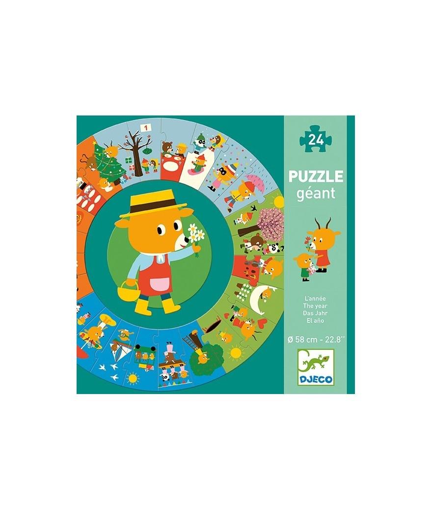 Djeco Djeco Puzzle Géant - Het jaar - 3y+