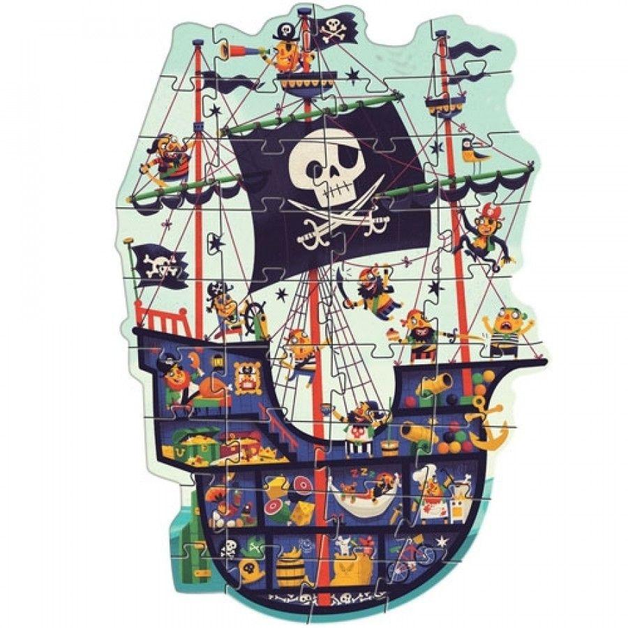 Djeco Djeco Puzzle Géant - Het piratenschip 36 pcs 4y+