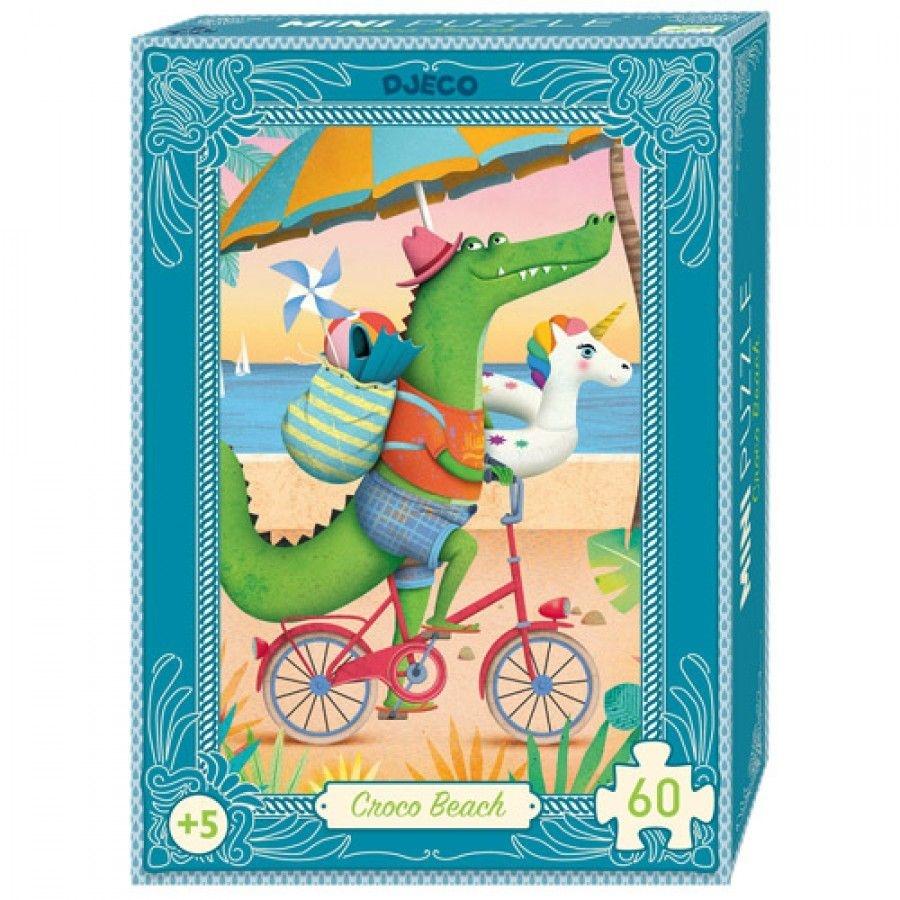Djeco Djeco Mini puzzel - Croco beach 60pcs 5y+