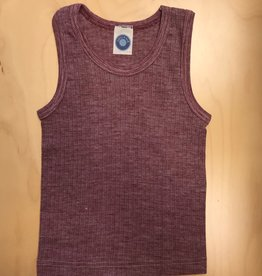 Cosilana Cosilana Wol/Zijde/Katoen hemd - Bordeaux melange (039)