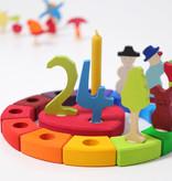 Grimms Grimm's  Verjaardagsring 12 gaatjes - Regenboog
