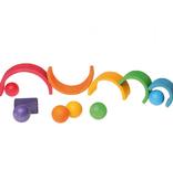Grimms Grimms Houten ballen - Regenboog - set van 6 stuks