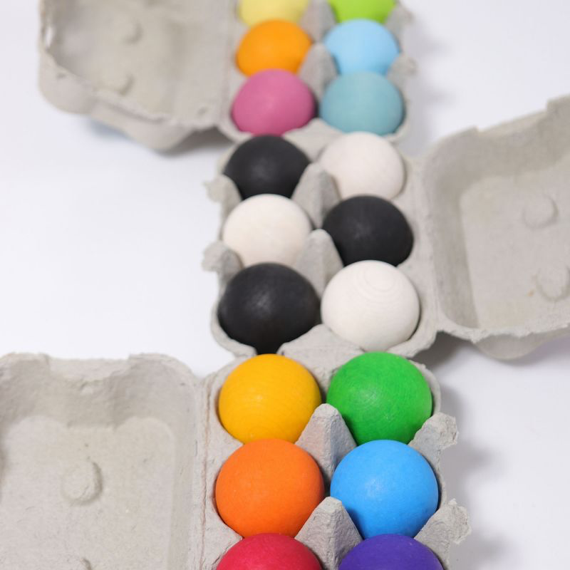 Grimms Grimms Houten ballen - Pastel - set van 6 stuks