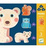 Djeco Djeco Puzzle Primo - In het bos - 3  puzzels 3y+
