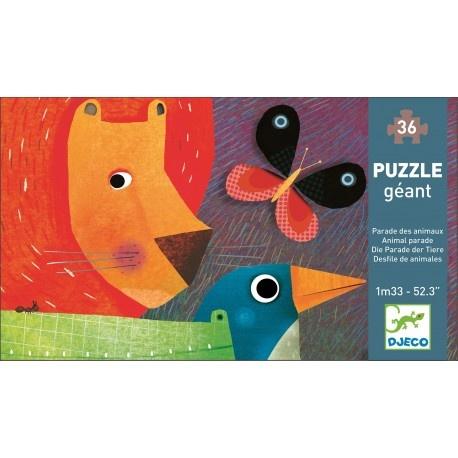 Djeco Djeco Puzzle Géant - Dieren parade - 133 cm - 3y+