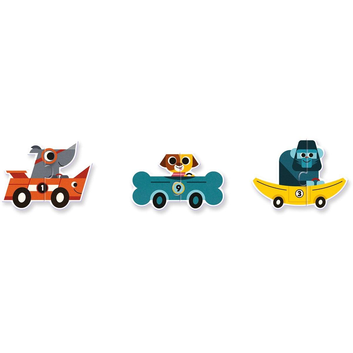 Djeco Djeco Duo puzzel - Racewagens - 10 puzzels 2y+