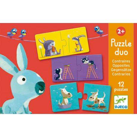 Djeco Djeco Duo puzzel - Tegenstellingen - 12 puzzels 2y+