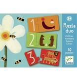 Djeco Djeco Duo puzzel - Nummers - 10 puzzels 3y+