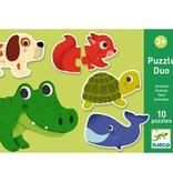 Djeco Djeco Duo puzzel - Dieren - 10 puzzels 2y+
