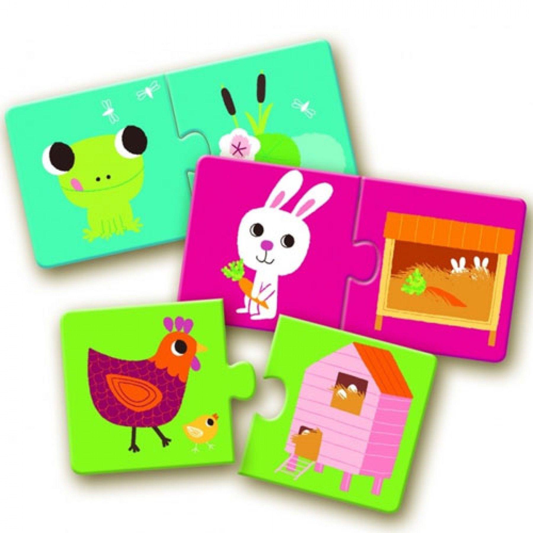 Djeco Djeco Duo puzzel - Leefruimte - 10 puzzels 2y+