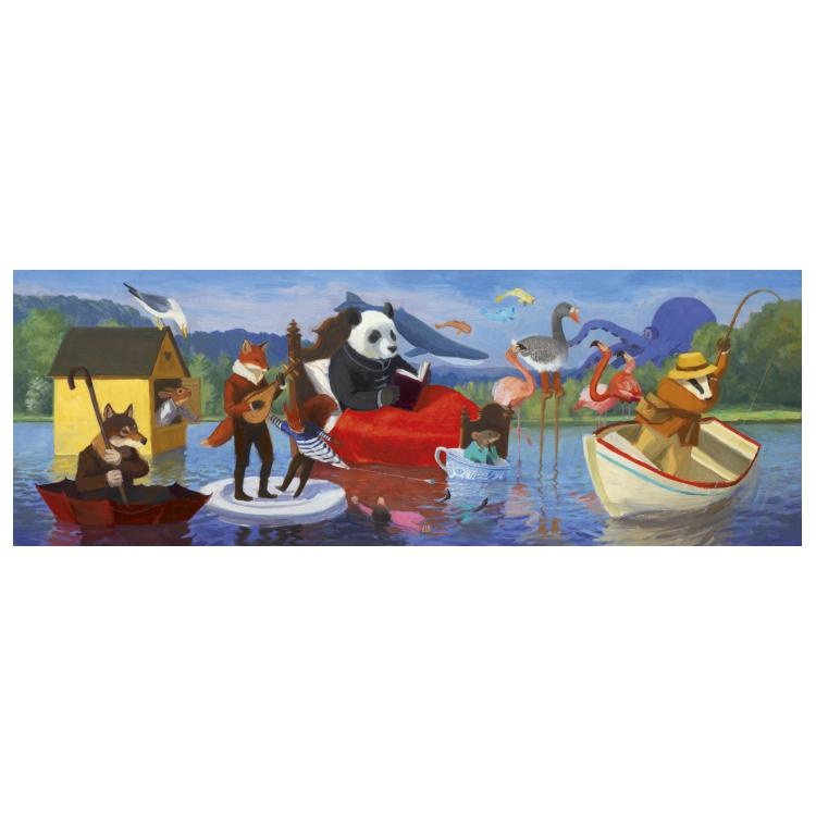 Djeco Djeco Gallerypuzzel - Summer Lake  350pcs 7y+