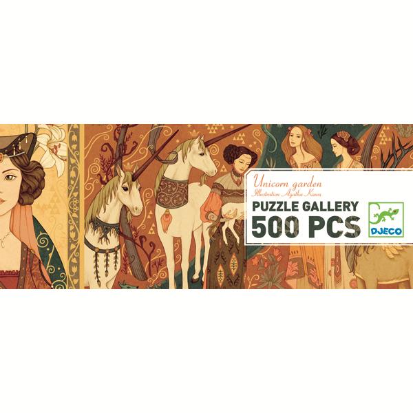 Djeco Djeco Gallerypuzzel - Unicorn garden  500pcs 8y+