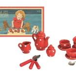 Egmont toys Egmont toys- Mini theeserviesje - rood met stippen
