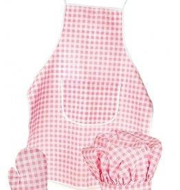 Egmont toys Egmont Toys - Keukenschort, ovenwant en koksmuts - Roze ruitjes