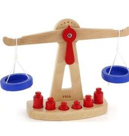 Viga Toys Viga - Houten weegschaal met gewichtjes