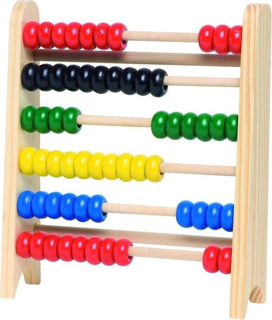 Goki Goki - Houten Telraam - 5 kleuren - 60 kraaltjes