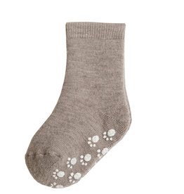 JOHA Joha Wollen sokken met Anti-slip - Sesam (15443)