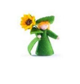 Roemeense Vingerpopjes Zonnebloempopje met losse bloem Sunflower