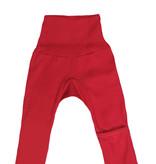 Cosilana Cosilana babylegging Wol/Zijde,  met omslag voor de voetjes - Rood (04)