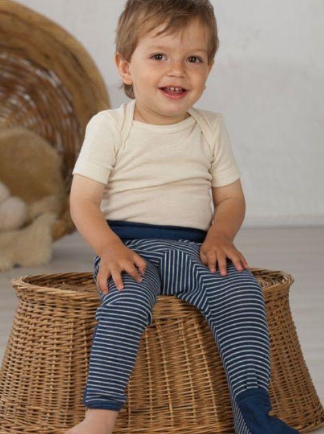Cosilana Cosilana babylegging Wol/Zijde,  met omslag voor de voetjes - Naturel (01)