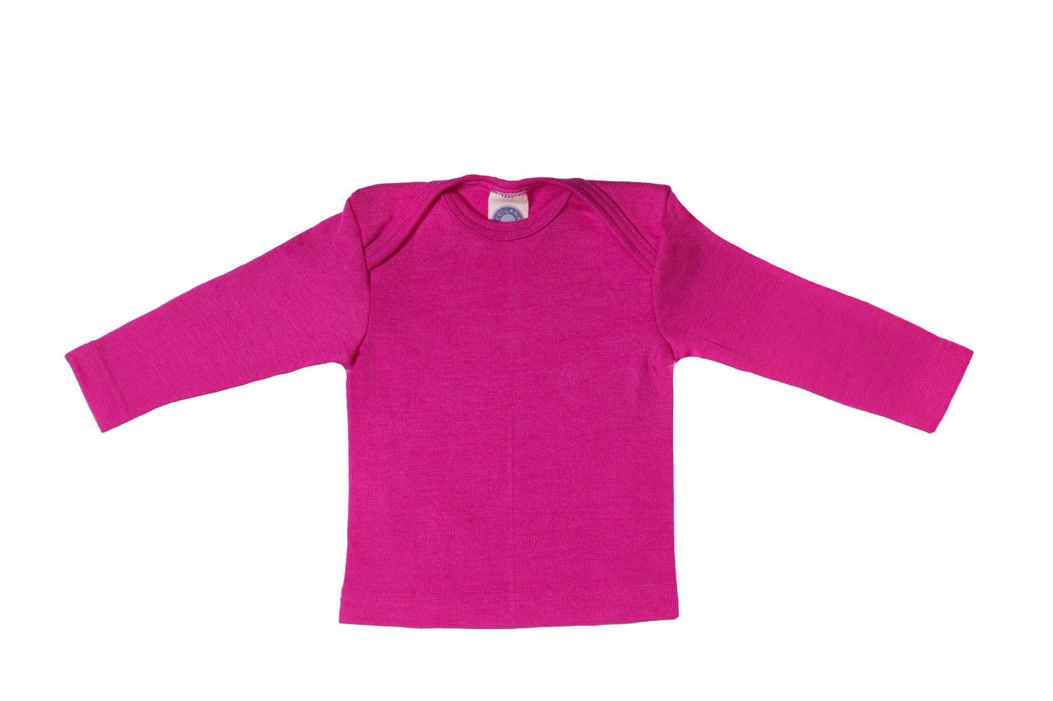 Cosilana Cosilana Babyhemdje Wol/Zijde lange mouw - Pruim (23)