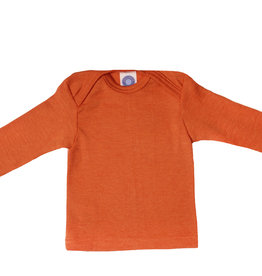 Cosilana Cosilana Babyhemdje Wol/Zijde lange mouw - Saffraan/Oranje (29)
