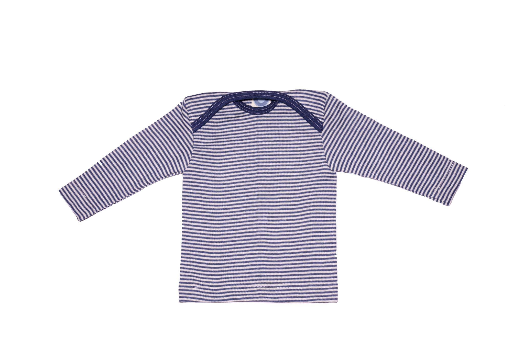 Cosilana Cosilana Babyhemdje Wol/Zijde lange mouw - Gestreept Groen (126)