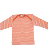 Cosilana Cosilana Babyhemdje Wol/Zijde lange mouw - Gestreept Saffraan/Oranje (129)