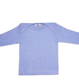 Cosilana Cosilana Babyhemdje Wol/Zijde/Katoen lange mouw - Blauw gemeleerd (06)