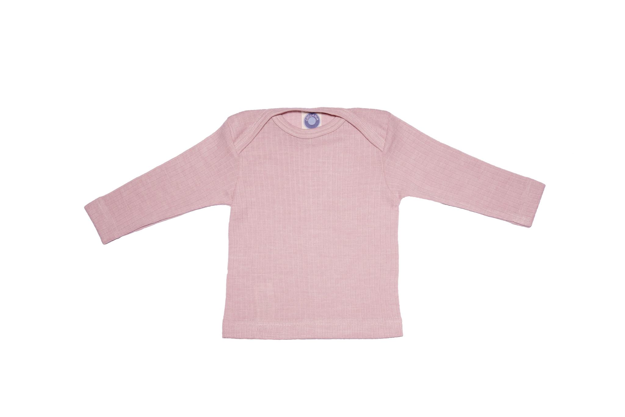 Cosilana Cosilana Babyhemdje Wol/Zijde/Katoen lange mouw - Roze gemeleerd (62)
