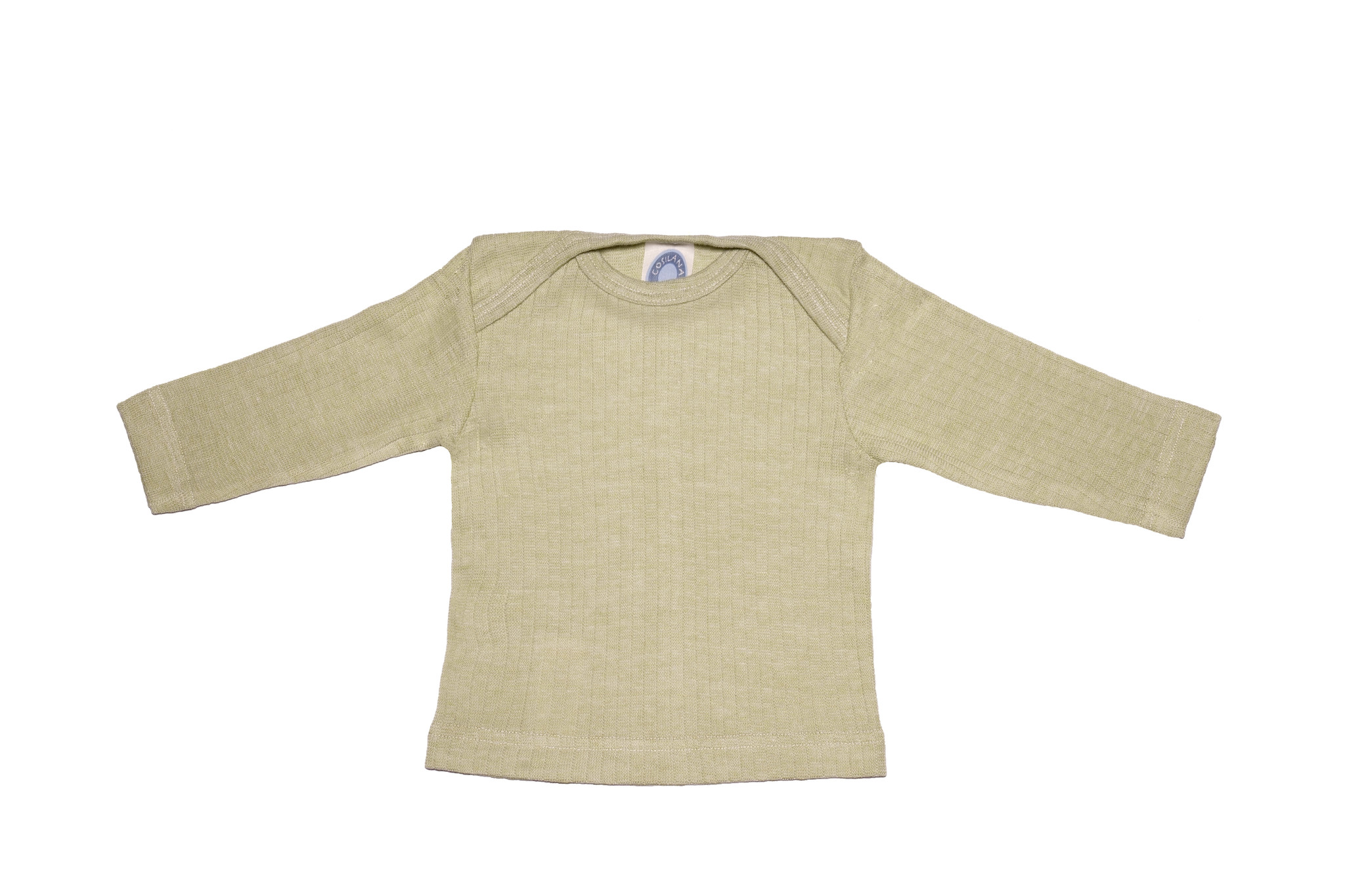 Cosilana Cosilana Babyhemdje Wol/Zijde/Katoen lange mouw -  Groen gemeleerd (021)