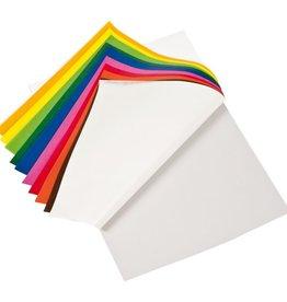 Mercurius Vliegerpapier blok 22x22 cm 10 kleuren 100 vel