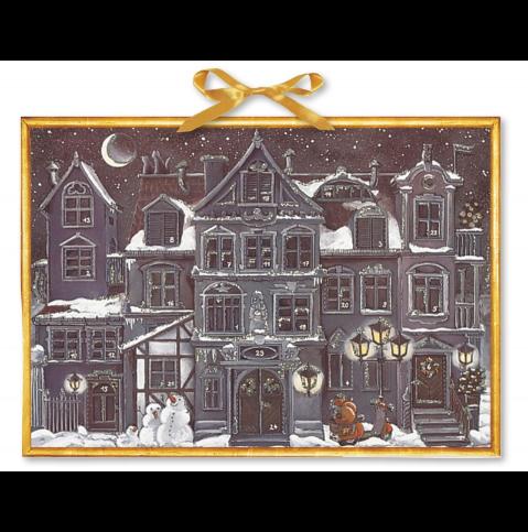 Adventskalender Kerstmis in de stad