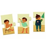 Djeco Djeco Duo puzzel - Vrolijk verhaal - Ik kleed me aan - 10 stukjes 3y+