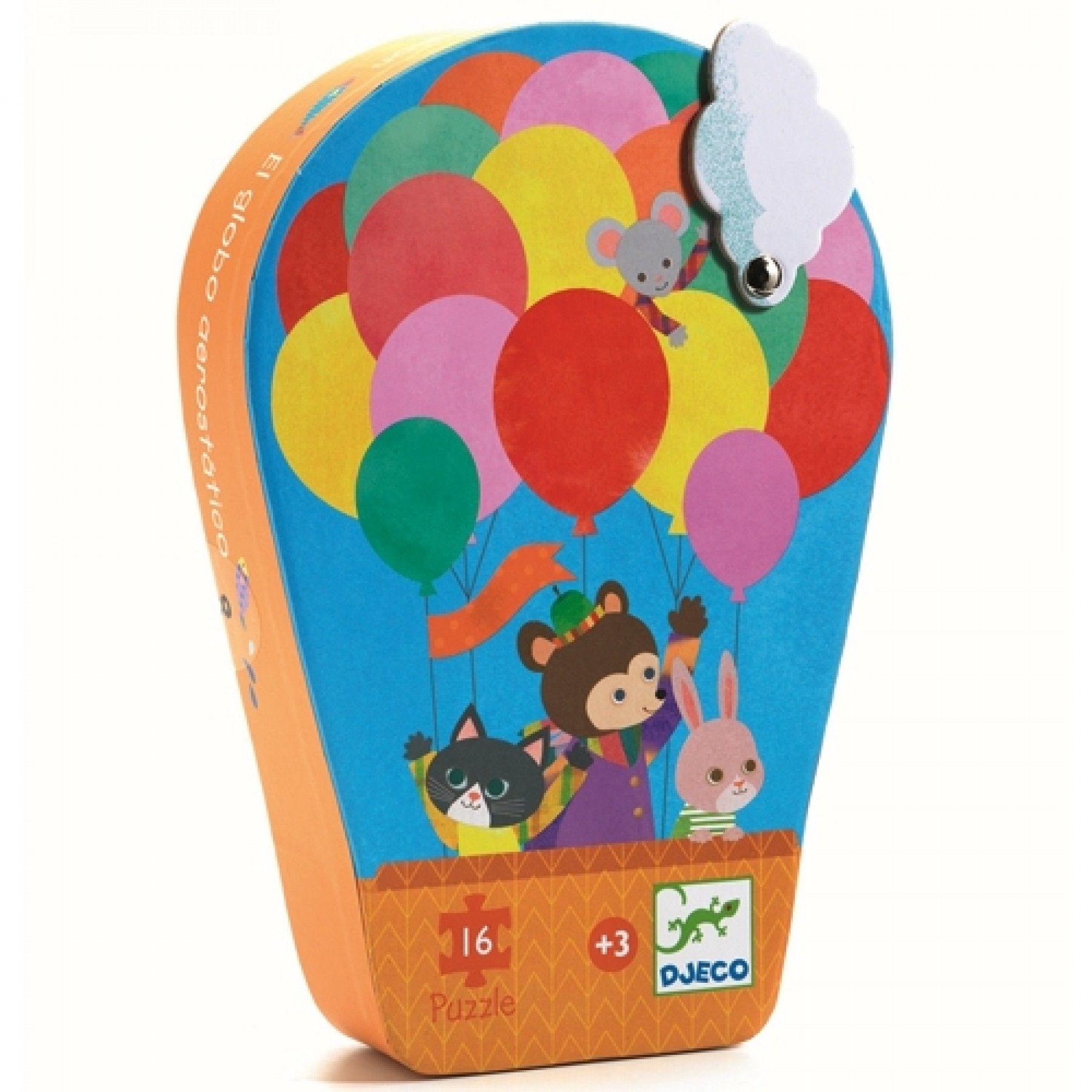 Djeco Djeco Puzzel - Heteluchtballon- 16pcs 3y+