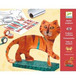 Djeco Djeco DIY Workshop Sculptuur - De Tijger  8-14Y
