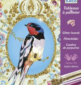 Djeco Djeco DIY  Glitterschilderijen - Vogels met Glittertjes - 7-13Y