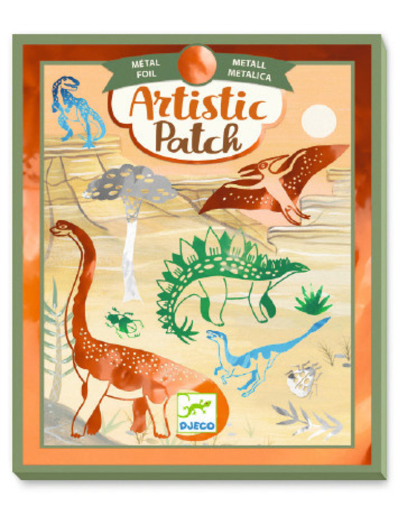 Djeco Djeco DIY Knutselset Metallic Folie - Dino 6-10Y