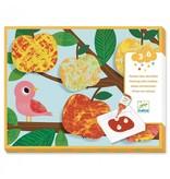 Djeco Djeco DIY Schilderen met knikkers - Veelkleurige natuur 3-6Y