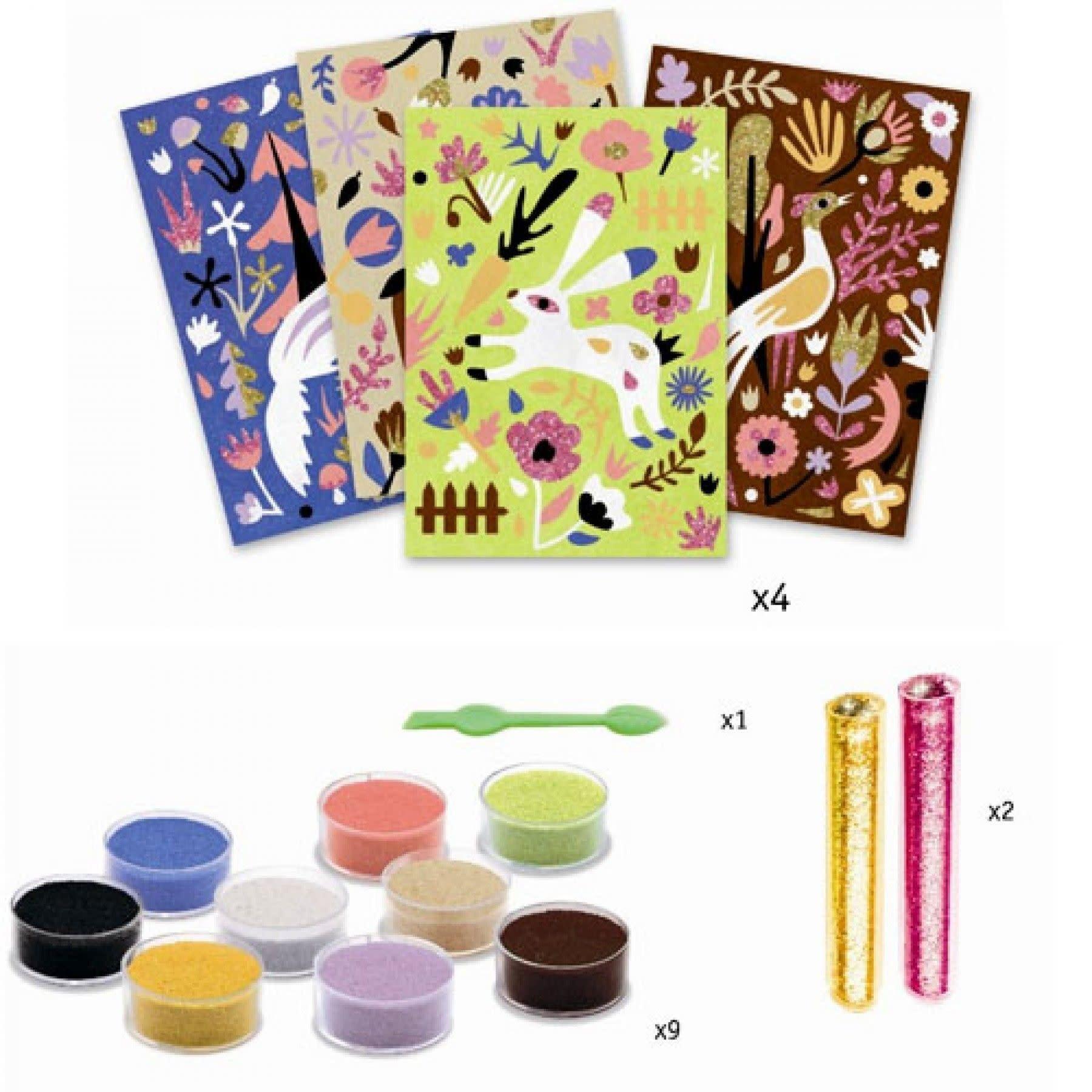 Djeco Djeco DIY Gekleurd zand - Kunst op nummer - Wonderlijk bos  6-11Y