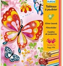 Djeco Djeco DIY Glitterschilderijen - Vlinders oa met glittertjes -  7-13Y
