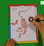 Djeco Djeco DIY Motieven op Carbonpapier - Wandeling in de natuur 7-13Y
