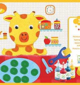 Djeco Djeco DIY Schilderen met een spons - De avonturen van de dieren 3-6Y