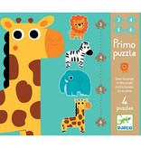 Djeco Djeco Puzzle Primo - In de jungle - 4  puzzels 2y+