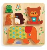 Djeco Djeco Reliëf puzzel - Woodypile  12m+